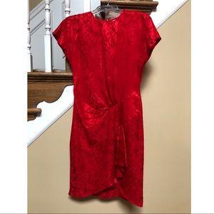 Pape'll Petites - size 2 red silk dress